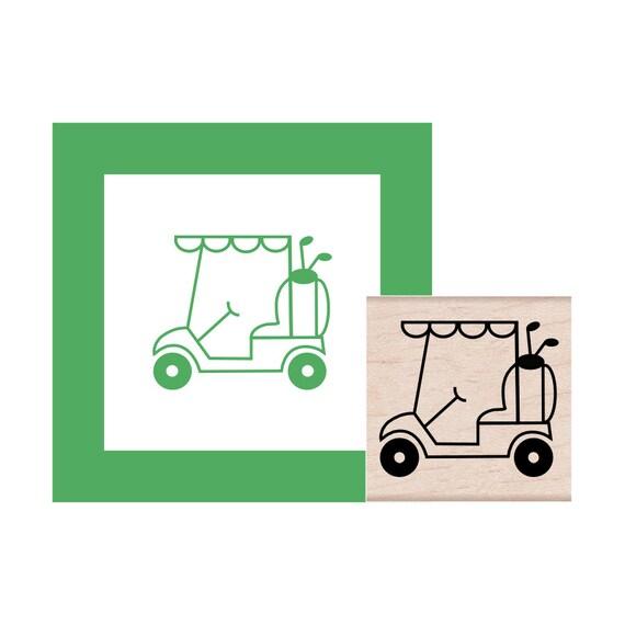 Golf Cart Rubber Stamp