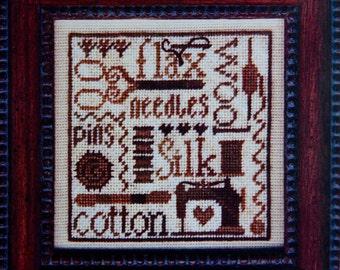 Cross Stitch Kit, Random Threads, Petites Collection