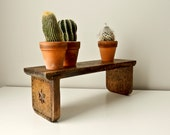 Reserved for Jodi - Do Not Buy - Rustic Wood Shelf, Handmade Handcarved Book Shelf