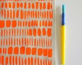 Brushstrokes - screen printed fabric - neon colours