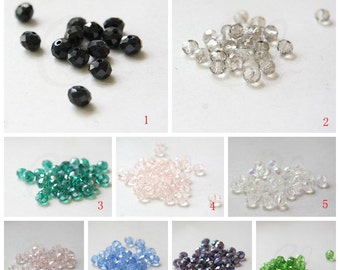 68pcs Chinese Crystal Rondelle Beads - 8mm (3227C-A-175)
