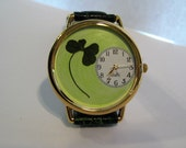 Four Leaf Clover in a Watch! Good Luck Charm in a Watch! Four Leaf Clover Watch, Leather Watch for Women, Lucky Four Leaf Clover Watch