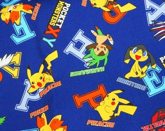 Pokemon licensed fabric 50 cm by 53 cm or 19.6 by 21 inches Printed in Japan ©nintendo ©pokemon