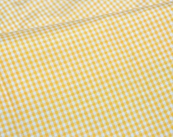 Gingham print Japanese fabric half meter  (n431)