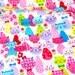 colorful cat print half meter (n441)
