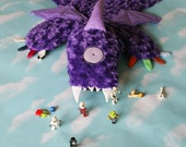 Personalized One-eyed One-horned Flying Purple People Eater Minky Baby Security Blanket