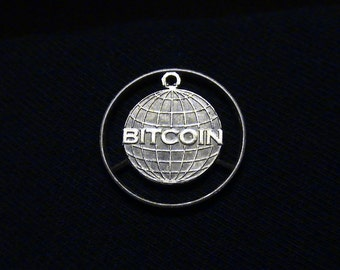 Licensed Bitcoin penny - Cut coin pendant - First of it's kind