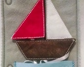 SALE Felt shapes sail boat quiet book page 3 different shapes to match
