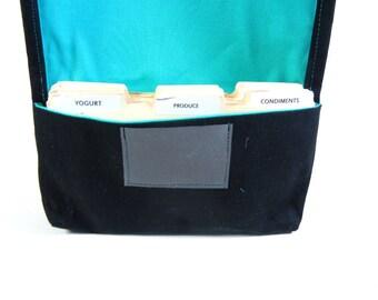 Coupon Organizer - Coupon Holder - Coupon Binder - Coupon Purse - Coupon Pouch - Receipt Holder - Black Twill Fabric