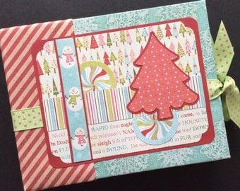 Christmas Paper Bag Mini Album, PREMIUM Paper Bag Photo Album, Christmas Gift, Mini Photo Album, Christmas Photo Album, Snowman Album, Gift