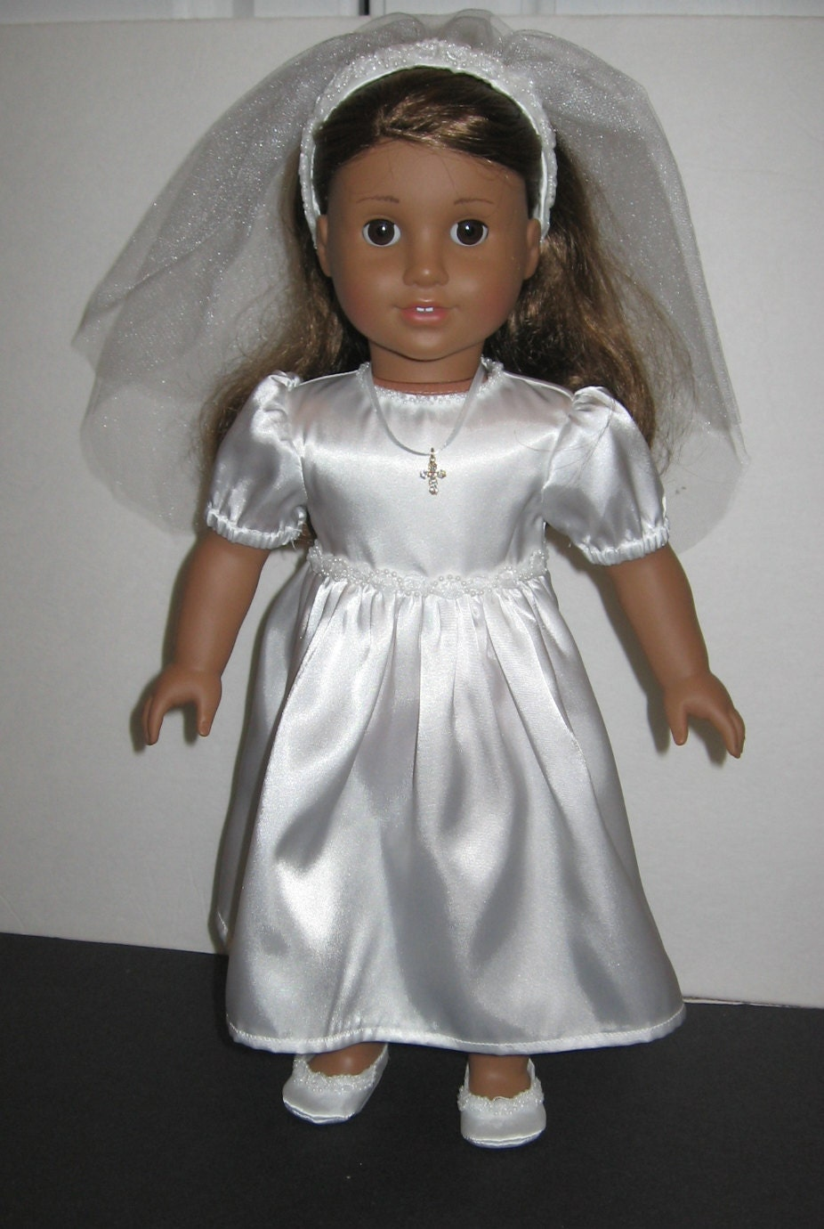 american girl doll first communion outfit dress shoes. Black Bedroom Furniture Sets. Home Design Ideas