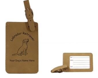 L3479 Labrador Sitting Personalized Luggage Tag