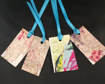 Flower Gems Gift Tags Bookmarks