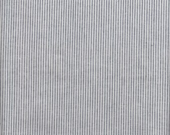 Moda Luke Haynes Dapper Woven Stripe in Gray/Ivory - Half Yard