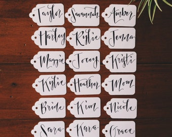 Rehearsal Dinner Place Cards- Custom Handwritten Gift Tags
