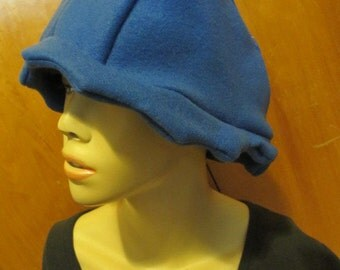 Royal Blue Scalloped Edge Fleece Cloche Hat (5503)