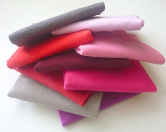 10 Cloth Napkins Valentines Day Decor Pink and Red Unpaper towels - Reusable Paper Towels - Fabric Napkins - 10 x 12 Single Layer