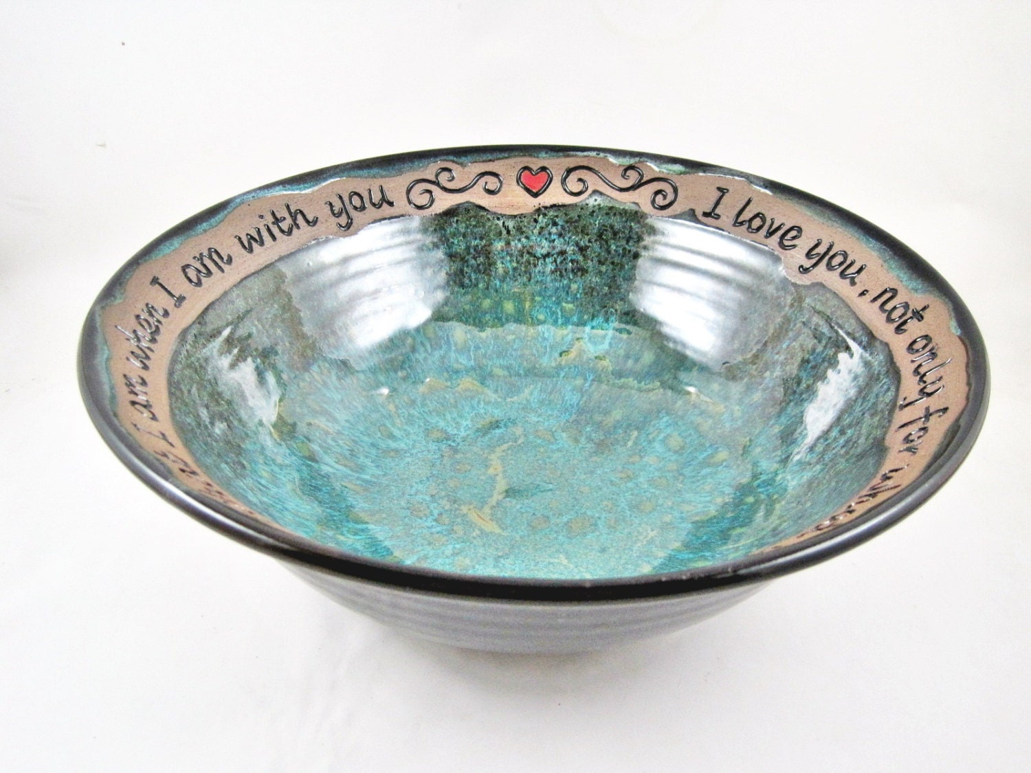 9th Anniversary Pottery For Wedding: Pottery 9th Anniversary Valentine's Day Gift By