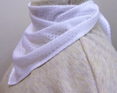 bandanna scarves - white mesh - trach tube stoma cover