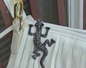 Lizard purse key holder keychain key chain key fob reptile