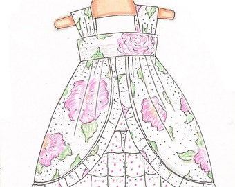 Tea Party Dress add on sizes 10 through 16