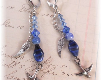 Earrings Bluebird of Happiness On Sale