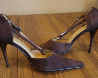 Buongiorno Exclusive Chocolate Suede 4 inch stiletto Sz.9.0 (40)