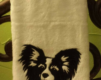Papillon Embroidered decorative hand Towel