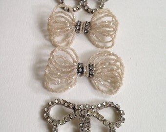 Two Pair of Vintage Shoe Buckles or Shoe Decorations