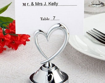 20 Heart Themed Place Card Holders Wedding Favors Craft Supply