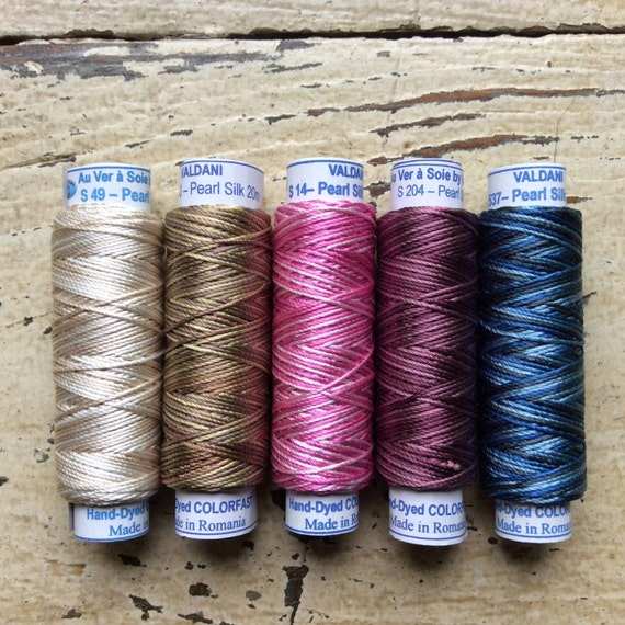 5 Valdani Pearl Silk Embroidery Thread By Maryflanagan On Etsy