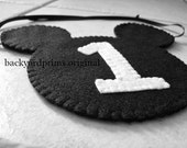 Mickey Mouse Inspired Decoration  ~Felt Head Shape with number of your choice ~Smash Cake ~Photo Prop ~1st Birthday ~Birthday ~Wedding