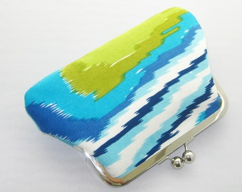 SALE - Ready to Ship - Trina Turk Fabric Clutch - Purse, make-up bag, coin purse - Made in USA by UPSTYLE