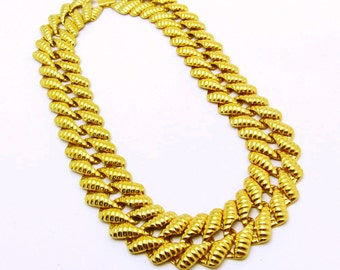 Wide Chain Necklace Statement Jewelry Vintage Napier N7250