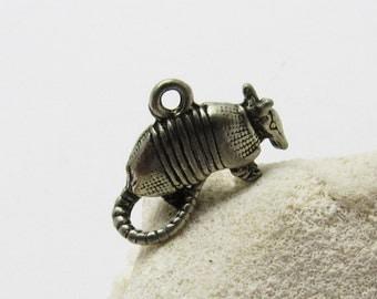 Sterling Armadillo Charm Vintage Jewelry C7304
