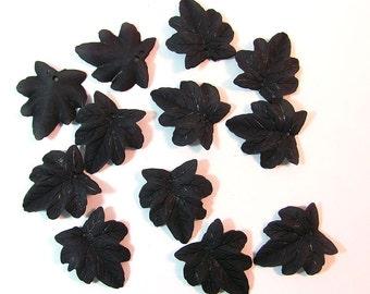 Black Lucite Leaves 12