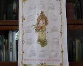 1979 Holly Hobbie Calendar Towel, Vintage Hallmark, Holly Hobbie, Vintage Kitchen Towel, Vintage Linen, Retro Kitchen Decor, 1979