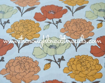 Fall Blossoms - Vintage Fabric Mod 60s 70s Daisies New Old Stock So Colorful