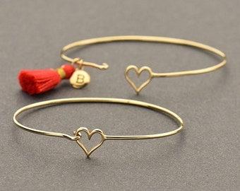 Natural Bronze Heart Hook and Eye Bracelet - Insurance Included