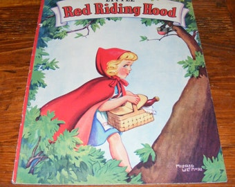 Vintage Big Linen Little Red Riding Hood Illustrated by Mildred Wetmore 1942 Whitman Publishing