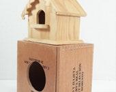 Bird house double decker bird house wooden bird house hand crafted