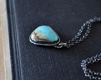 Natural Easter Blue Turquoise Necklace
