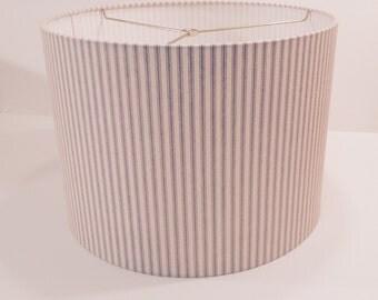 Ticking stripe lamp shade