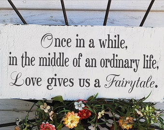 ONCE In A WHILE... 20x9 Wedding Signs - Beautiful Cottage Wedding signs