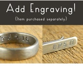 ENGRAVING ONLY, no product is included in this listing. Add engraving to your item (purchased separately).