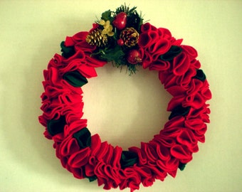 Red Felt Wreath