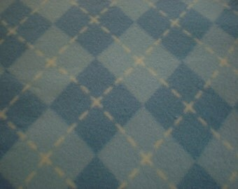 Blue and White Argyle Blanket