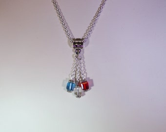 Swarovski Crystal & Sterling Silver Family Necklace - Moms, Grandmothers, Godmothers, Aunts, Sisters, Best Friends - Up to 12 Birthstones