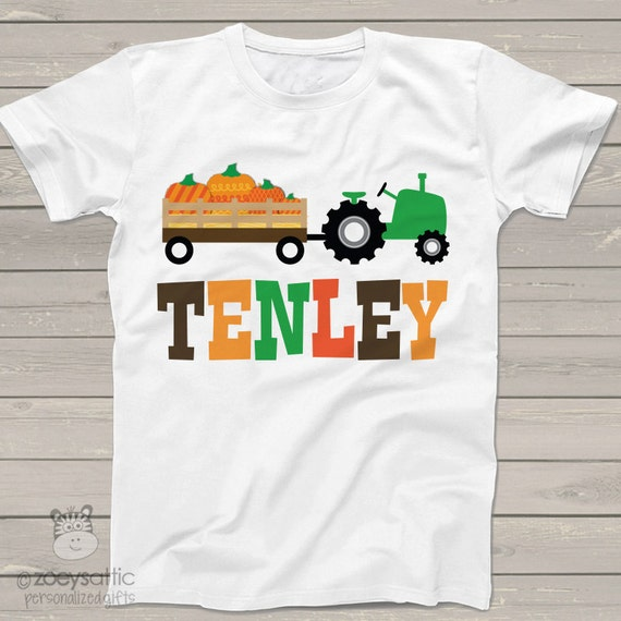 fall tractor kids personalized shirt - Adorable custom and personalized tractor t shirt FTKPPT
