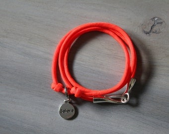 Charm Bracelet Neon Orange Believe